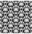 art deco black and white pattern vector image vector image