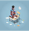 back to school isometric vector image vector image