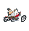 biker ride at motorcycle vector image vector image