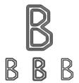Black b letter logo design set vector image vector image