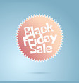 black friday sale abstract cartoon geometric logo vector image