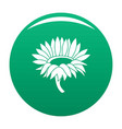 blossoming sunflower icon green vector image