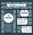 blue floral arabic pattern corporate identity vector image