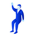 businessman hand up icon isometric style vector image vector image