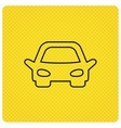 Car icon Auto transport sign vector image vector image