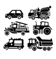 car icon black transportation set vector image