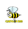 cartoon character yellow striped bee and the vector image