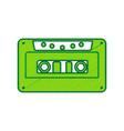 cassette icon audio tape sign lemon vector image