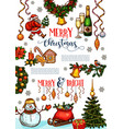 christmas holidays celebration poster template vector image