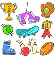 collection of object sport various vector image vector image