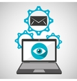 computer security email social network concept vector image vector image