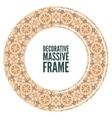 Decorative ornate round frame in Victorian style vector image vector image