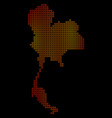 dotted fire thailand map vector image vector image