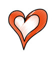 drawing heart love romance passion decoration vector image vector image