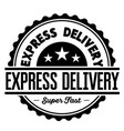 express delivery label vector image vector image