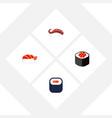 flat icon sashimi set of gourmet maki japanese vector image