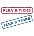 Flea Ticks Rubber Stamps vector image vector image