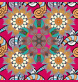 floral background in cute textile style on vector image vector image