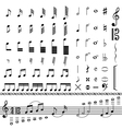 full set of various musical notes vector image vector image