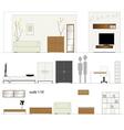 furniture design living room interior furniture vector image vector image