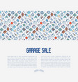 garage sale or flea market concept vector image