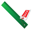 green ruler for sale vector image vector image