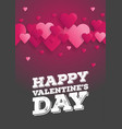 greeting card happy valentines day lettering vector image vector image