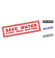 grunge save water every drop matters textured vector image vector image