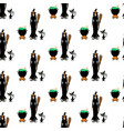 halloween witch seamless pattern vector image vector image
