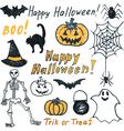 hand drawing halloween vector image vector image