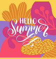 hand lettering hello summer vector image vector image