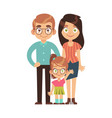 happy family parents with child mom dad vector image vector image