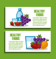 healthy foods lifestyle vector image vector image