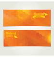 Honey banner Abstract bee design vector image vector image