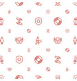 insurance icons pattern seamless white background vector image vector image
