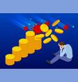 isometric global economic impacts 2020 vector image vector image