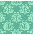Light green seamless damask pattern vector image vector image