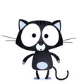 lucky black cat vector image vector image