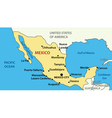 map of United Mexican States vector image vector image