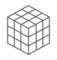 math cube thin line icon block and geometric vector image vector image