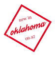 new in oklahoma rubber stamp vector image vector image