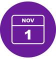 november 1st date on a single day calendar