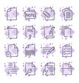 paper icons document icons set icons vector image vector image