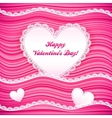 pink wavy Valentines Day background vector image vector image