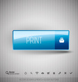 Plastic Button vector image vector image