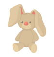 plush toy bunny icon cartoon style vector image