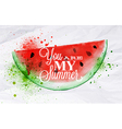 Poster fruit watermelon vector image