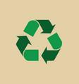 Recycle symbol green arrows logo web icon
