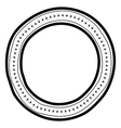 Round doodle border frame vector image vector image