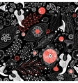 seamless graphic floral pattern vector image vector image
